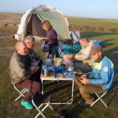 Field dinner during the Taymyr expedition